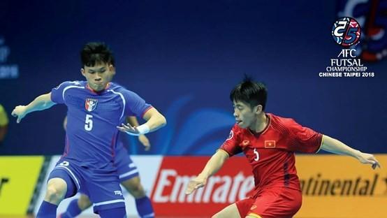 Vietnam qualifies quarterfinals of 2018 AFC Futsal Championship