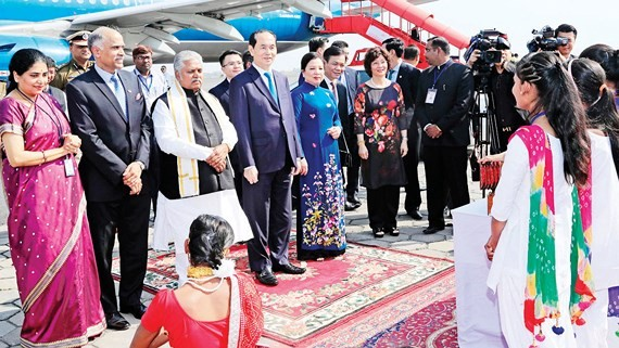 High- ranking delegation of Vietnam visits India (Photo:VNA)