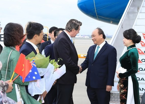 PM  Phuc arrives in Sydney to join the ASEAN-Australia Special Summit (Photo:VNA)