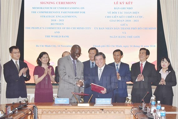 MoU on comprehensive partnership between Ho Chi Minh City and World Bank