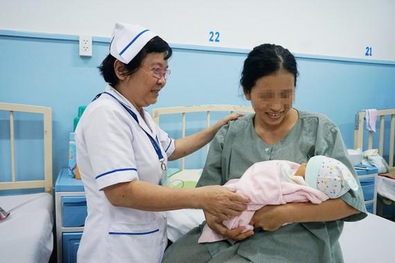 Niềm hạnh phúc của chị Đ.T.P.L khi sinh con khỏe mạnh
