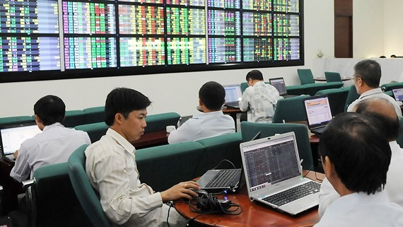 A trading session in HCMC exchange. (Picture: CAO THANG)
