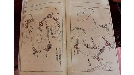 Hoàng Hoa Sứ Trình Đồ (The Envoys' Journeys to China), an old document of Vietnam ( photo SGGP)