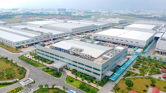 Nhà máy Samsung tại SHTP. Ảnh: HOÀNG HÙNG