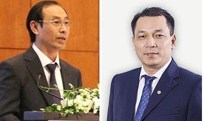 Thứ trưởng Bộ Giao thông vận tải Lê Đình Thọ và Thứ trưởng Bộ Công Thương Đặng Hoàng An