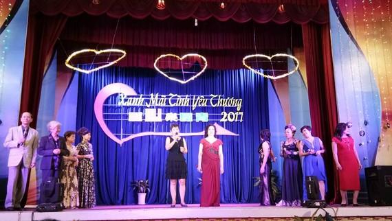 """圖為第五郡文化中心第2單位舉辦的""""愛心樂長青""""演唱會一瞥。"""