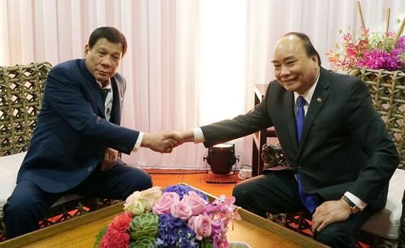 阮春福總理會見菲律賓總統杜特爾特。(圖源:越通社)