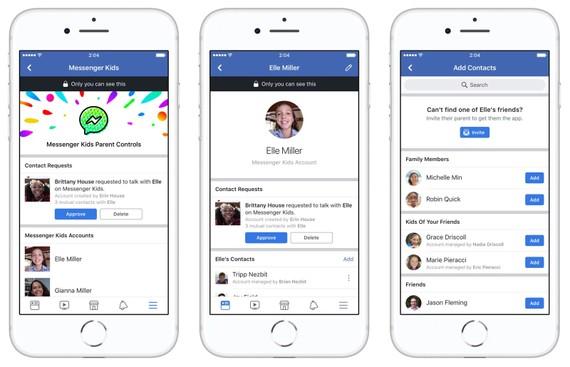 社交網站臉書前日宣佈推出針對13歲以下用戶的兒童版Messenger。(圖源:互聯網)