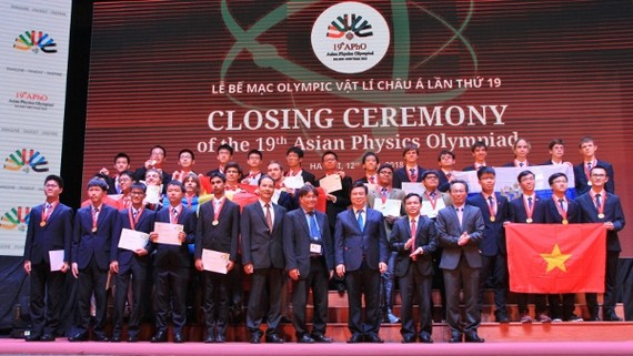 第19屆亞洲奧林匹克物理競賽(APhO 2018)頒獎儀式一瞥。(圖源:黎山)