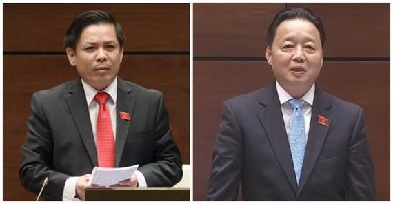 國會代表質詢交通運輸和資源環境部長