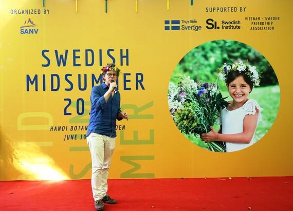 瑞典大使在交流會上發表講話。(圖源:慶蘭)