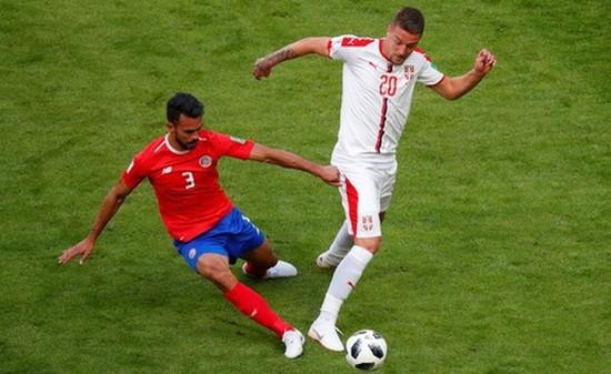 哥斯達黎加-塞爾維亞(白衣)比賽一瞥。