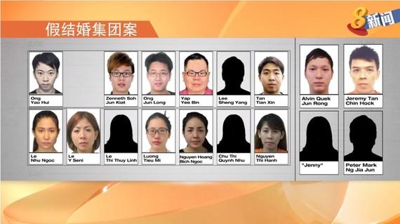新加坡搗毀假結婚團夥共有17人。(圖源:視頻截圖)