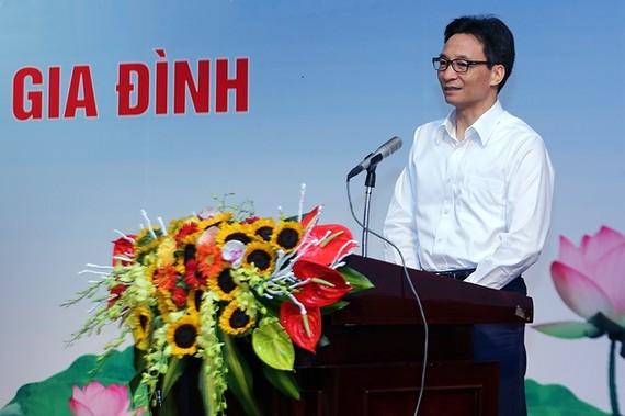 政府副總理武德膽在會議上發表講話。(圖源:廷南)