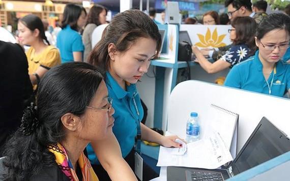 越航是越南首家應用QR碼掃描進行收付款的航空公司。(圖源:越航)