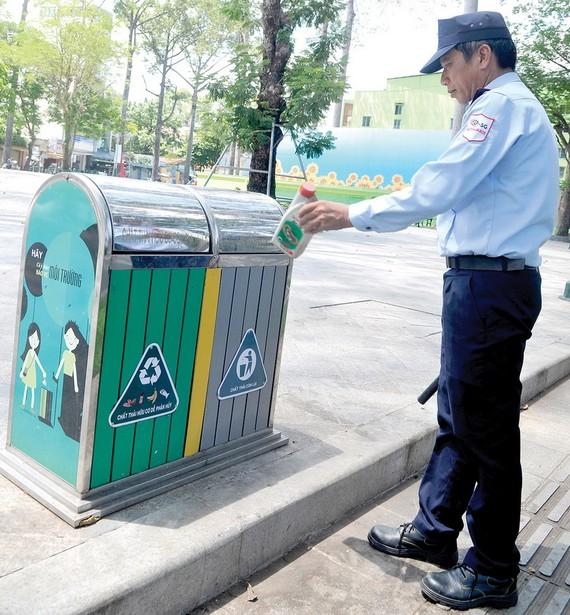 第五郡文郎公園的就地分類垃圾箱。