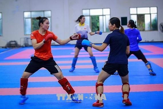 我國運動員訓練中。