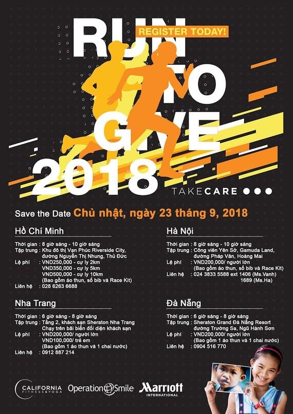 """""""2018慈善義跑""""(Run to Give)宣傳海報。(圖源:互聯網)"""