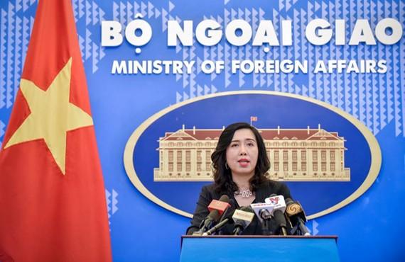 外交部發言人黎氏秋姮。(圖源:越玲)