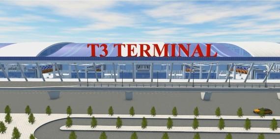 按規劃,將增建年服務能力達2000萬客次的新山一機場南面區域T3航站樓。