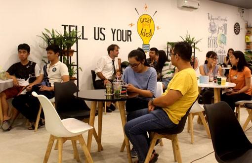 圖為平陽省 English Coffee House 英語咖啡館一瞥。