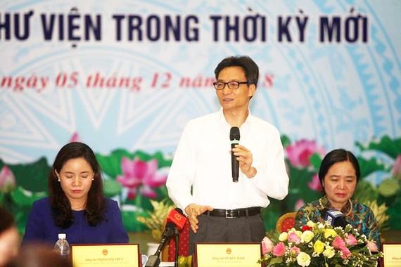 政府副總理武德膽(中)在研討會上發言。(圖源:清春)