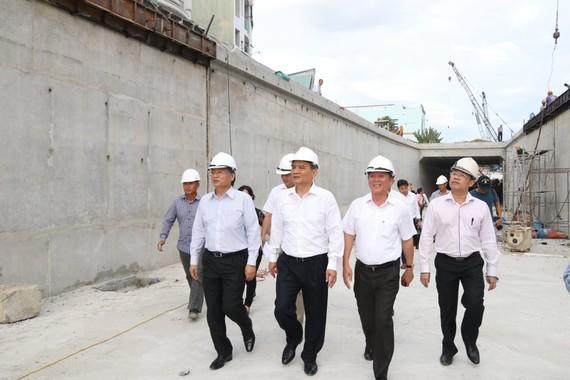 Bí thư Thành ủy Đà Nẵng Trương Quang Nghĩa kiểm tra tiến độ hầm chui Nguyễn Tri Phương - Điện Biên Phủ