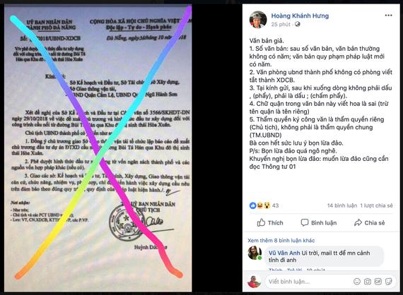 Cảnh báo giả văn bản, con dấu của UBND TP Đà Nẵng và giả chữ ký của Chủ tịch Huỳnh Đức Thơ