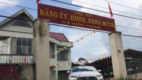 Trụ sở UBND xã Kiến Thành nơi ông Mai Xuân Sáng làm việc. Ảnh CÔNG HOAN.