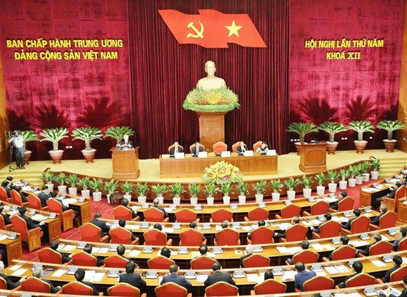 The Communist Party of Vietnam Central Committee (CPVCC) opened its fifth plenary meeting of the 12th tenure in Hanoi on Friday. (Photo: VNA/VNS)