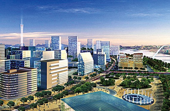 A view of Thu Thiem new urban area in the future in District 2, HCMC (Photo: SGGP)