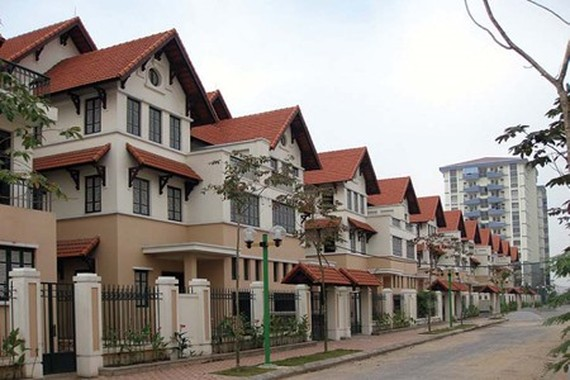 Villas at the Pandora residential area, located at No 53 on Trieu Vu Street in the capital city's Thanh Xuan District. (Photo: batdongsan.com.vn)