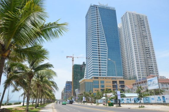 Muong Thanh hotel complex and Son Tra high class apartment block in Da Nang city (Photo: SGGP)
