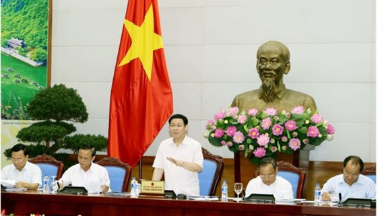 Deputy Prime Minister Vuong Dinh Hue states at the meeting (Photo: VGP)