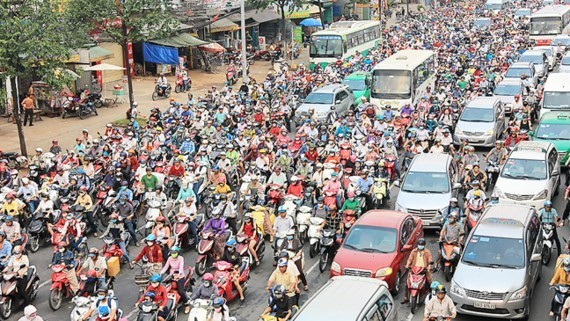 Traffic jam is a daily issue in HCMC (Photo: SGGP)