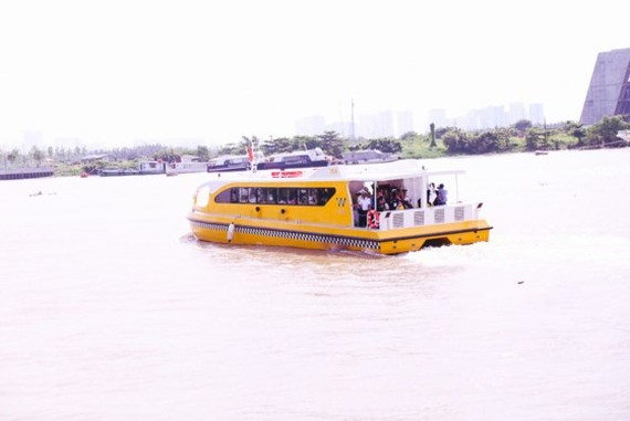The first river bus route in HCMC starts pilot operation on August 21 (Photo: SGGP)