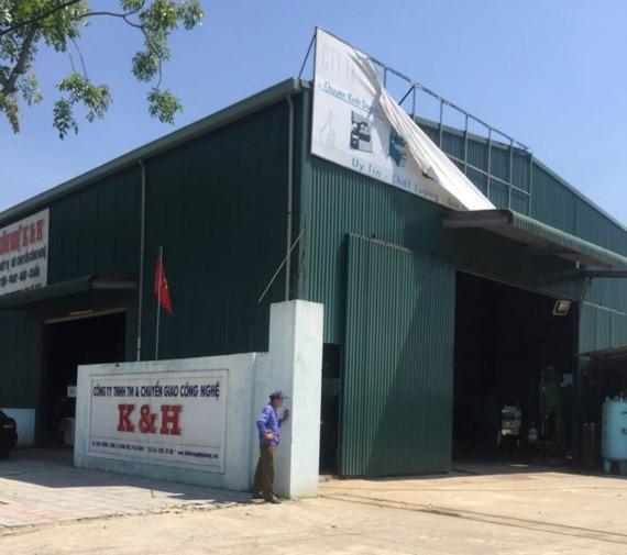 K & H Technology Transfer Company hires defense land west of Da Nang Airport (Photo: ĐNO)