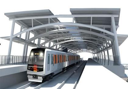 An artist's impression of Ben Thanh-Suoi Tien metro line