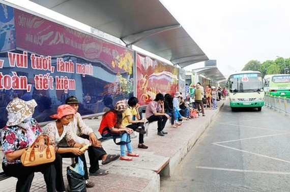Ben Thanh bus station in Ham Nghi street, District 1 (Photo: SGGP)
