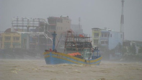 Typhoon Damrey makes landfall in the south central region of Vietnam on November 4