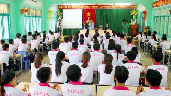 A training course for Vietnamese guest workers to Japan in the Mekong Delta province of Dong Thap (Illustrative photo: SGGP)