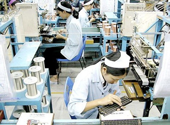 Electronic component manufacturing has attracted many foreign firms to seek investment opportunities (Photo: SGGP)
