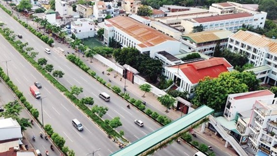Pham Van Dong street built under BT (Build-Transfer) form in HCMC (Photo: SGGP)