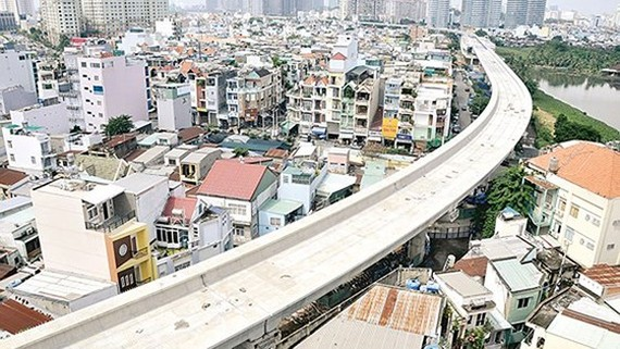 The construction site of Ben Thanh-Suoi Tien metro line in Binh Thanh district, HCMC (Photo: SGGP)