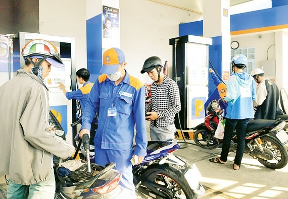 A filling station in HCMC (Photo: SGGP)