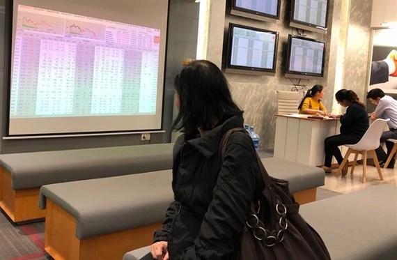 An investor follows transactions at Saigon Securities Inc (SSI) in Hanoi (Photo: VNS)