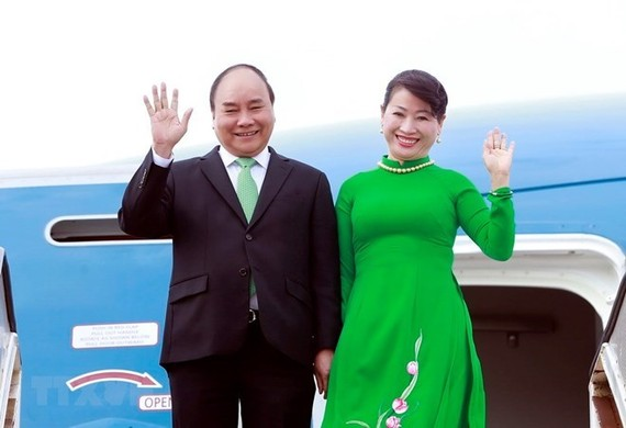 Prime Minister Nguyen Xuan Phuc and his spouse (Source: VNA)