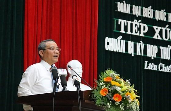 Ông Trương Quang Nghĩa, Bí thư Thành ủy TP Đà Nẵng, tiếp xúc cử tri quận Liên Chiểu