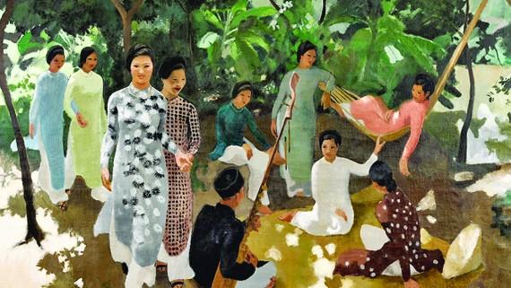 Tác phẩm Le Hamac (Mắc võng, sơn dầu trên bố) của Joseph Inguimberty - Giáo sư Cao đẳng Mỹ thuật Đông Dương, đang là bức cao giá thứ nhì  của Việt Nam, bán với giá 971.152 USD