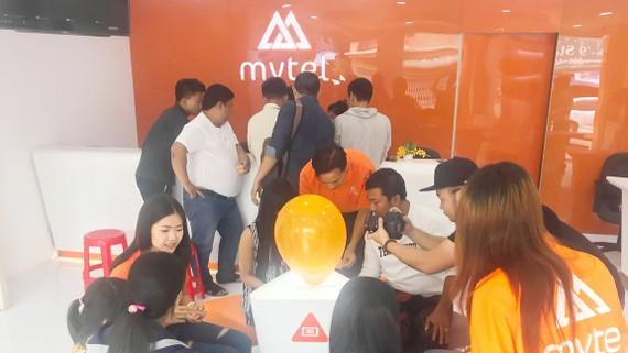 Cửa hàng Mytel trước ngày khai trương